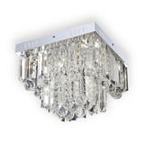 Deckenleuchte Domenica 32x32 cm mit Acrylbehang - KONVENTIONELL, Kunststoff/Metall (32/32/24cm) - Luca Bessoni