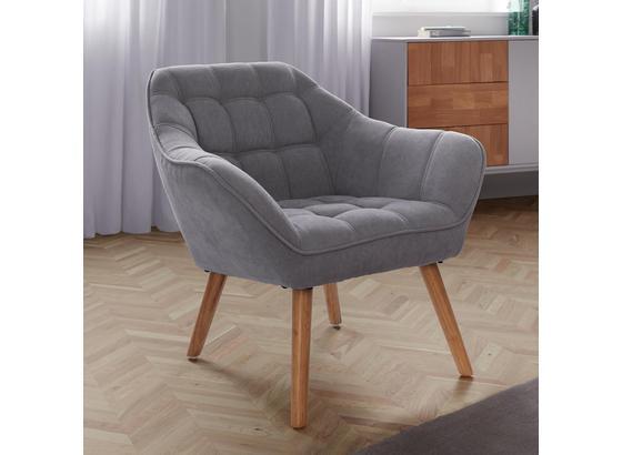 Kreslo Monique - svetlosivá, Moderný, textil (83/76/74,5cm) - Modern Living
