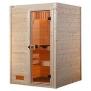 Sauna Valida 1 Gt - Naturfarben, MODERN, Glas/Holz (139/203,5/139cm)