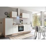 Küchenblock Andy Inkl E-Geräte+spüle - Eichefarben/Weiß, Basics, Holzwerkstoff (270cm) - Xora