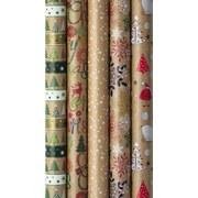 Geschenkpapier Weihnachten - Braun/Grün, Basics, Papier (70/200cm)