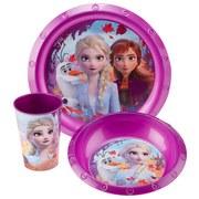 Kindergeschirrset Frozen II - Multicolor, KONVENTIONELL, Kunststoff (24/10/23cm)