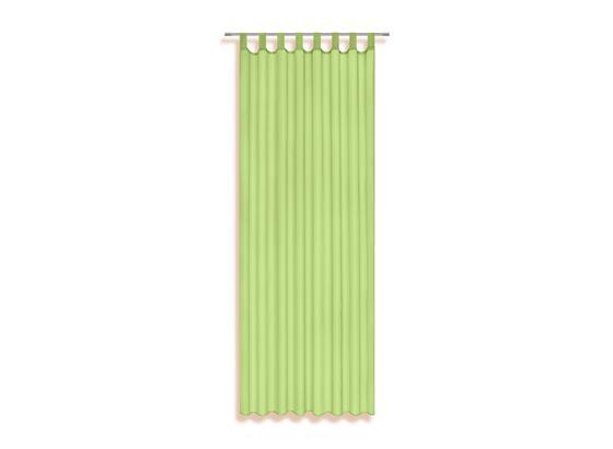 Schlaufenvorhang Utila - Hellgrün, KONVENTIONELL, Textil (140/245cm) - Ombra