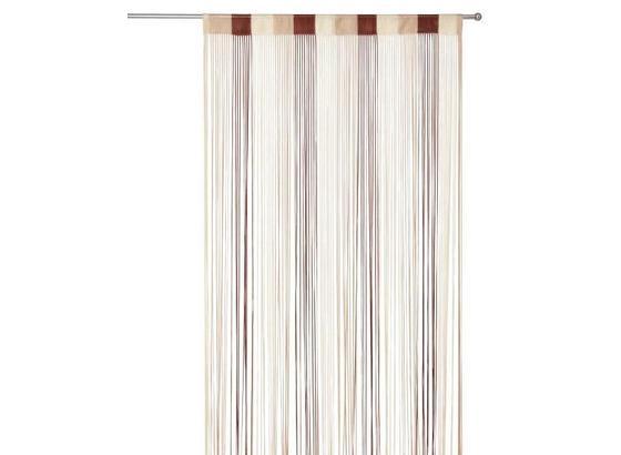 Fadenvorhang Stangendurchzug Rita B: 90cm, Schoko/Beige - Dunkelbraun/Beige, KONVENTIONELL, Textil (90/245cm) - Luca Bessoni