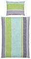 Bettwäsche Erina - Blau/Grau, MODERN, Textil - Luca Bessoni