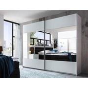 Schwebetürenschrank Penta B:270cm Weiß/spiegel - Weiß, MODERN, Glas/Holzwerkstoff (270/210/60cm)