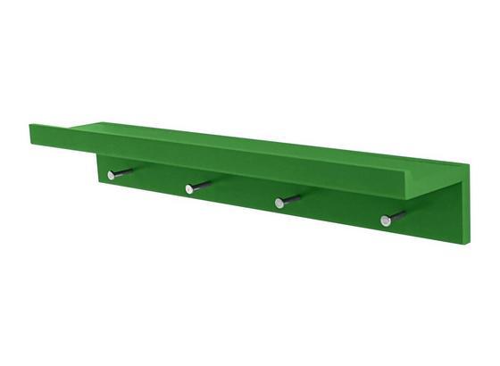 Lišta Na Háčiky Martina - zelená, Moderný, kov/kompozitné drevo (60/10/11,3cm)