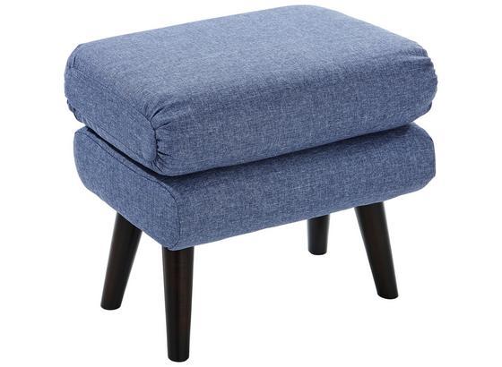Taburet Viborg - modrá, Štýlový, textil (57/47/40cm)
