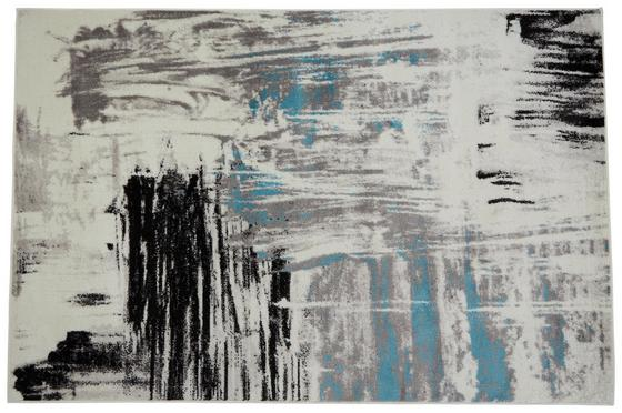 Webteppich Metro 120x170 cm - Blau/Schwarz, KONVENTIONELL, Textil (120/170cm) - Ombra