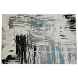 Webteppich Metro 160x230 cm - Blau/Schwarz, KONVENTIONELL, Textil (160/230cm) - Ombra