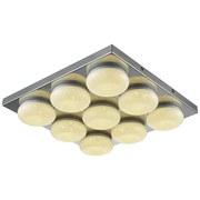 Led Stropná Lampa Pete - chrómová, Romantický / Vidiecky, umelá hmota/kov (42/6cm) - Mömax modern living