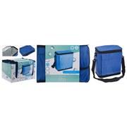 Kühltasche B: 25 cm Blau - Blau/Schwarz, Basics, Kunststoff (25/26/13cm)