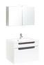 Badezimmer Siena 80cm Weiß - Eichefarben/Weiß, MODERN, Holzwerkstoff/Kunststoff (80/47cm)