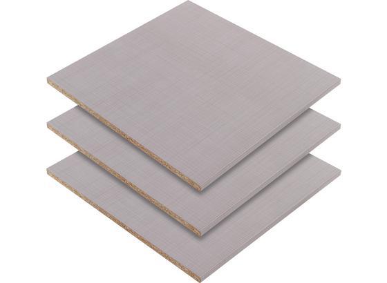 Sada Vkládacích Polic Advantage,level, 3-jitý Set - šedá, Moderní, dřevo/kompozitní dřevo (48/2/50cm) - Ombra