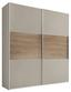 Schwebetürenschrank Includo 200cm Sand - Sandfarben/Eichefarben, MODERN, Holzwerkstoff (200/222/68cm)