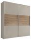 Schwebetürenschrank Includo 225cm Sand - Sandfarben/Eichefarben, MODERN, Holzwerkstoff (225/222/68cm)