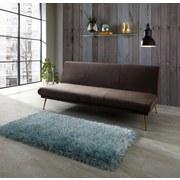 Pohovka Artdeco - hnedá/sivá, Moderný, kov/drevo (190/81/96cm) - Luca Bessoni