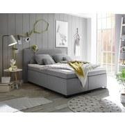 Boxspringbett Sunrise 1 ca. 140x200 cm - Silberfarben/Schwarz, Basics, Holzwerkstoff/Textil (140/200cm) - Carryhome