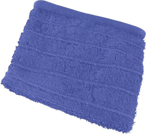 Waschlappen Lilly - Blau, KONVENTIONELL, Textil (16/21cm)