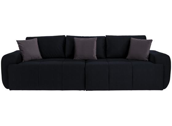 Megasofa Bobby B: 266 cm - Dunkelgrau/Anthrazit, MODERN, Holz/Textil (266/82/105cm)