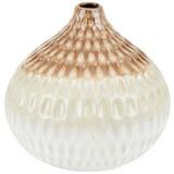 Dekovase Cadel - Braun/Weiß, Basics, Keramik (16/16,5cm) - Luca Bessoni