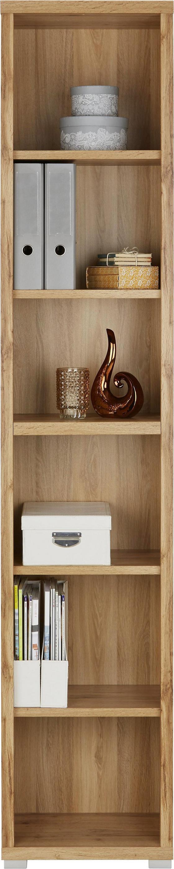 Regál Line4 10d4rr02 - bílá/barvy dubu, Moderní, kompozitní dřevo (44/218/36cm)