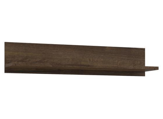 Nást. Police Se Zadním Panelem Lacjum - barvy dubu, Moderní, kompozitní dřevo (150/29,6/31,1cm)