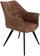 Stuhl Marbella Braun - Schwarz/Braun, MODERN, Textil/Metall (57,5/85/62cm) - Ombra