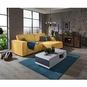 Sedacia Súprava V L Forme Tommy - žltá/sivá, Štýlový, drevo/textil (265/167cm) - Luca Bessoni