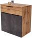 Kommode Kai1 B:80cm Wotan Eiche Dekor/ Betonoptik - Eichefarben/Alufarben, MODERN, Holzwerkstoff (80/80/39cm)
