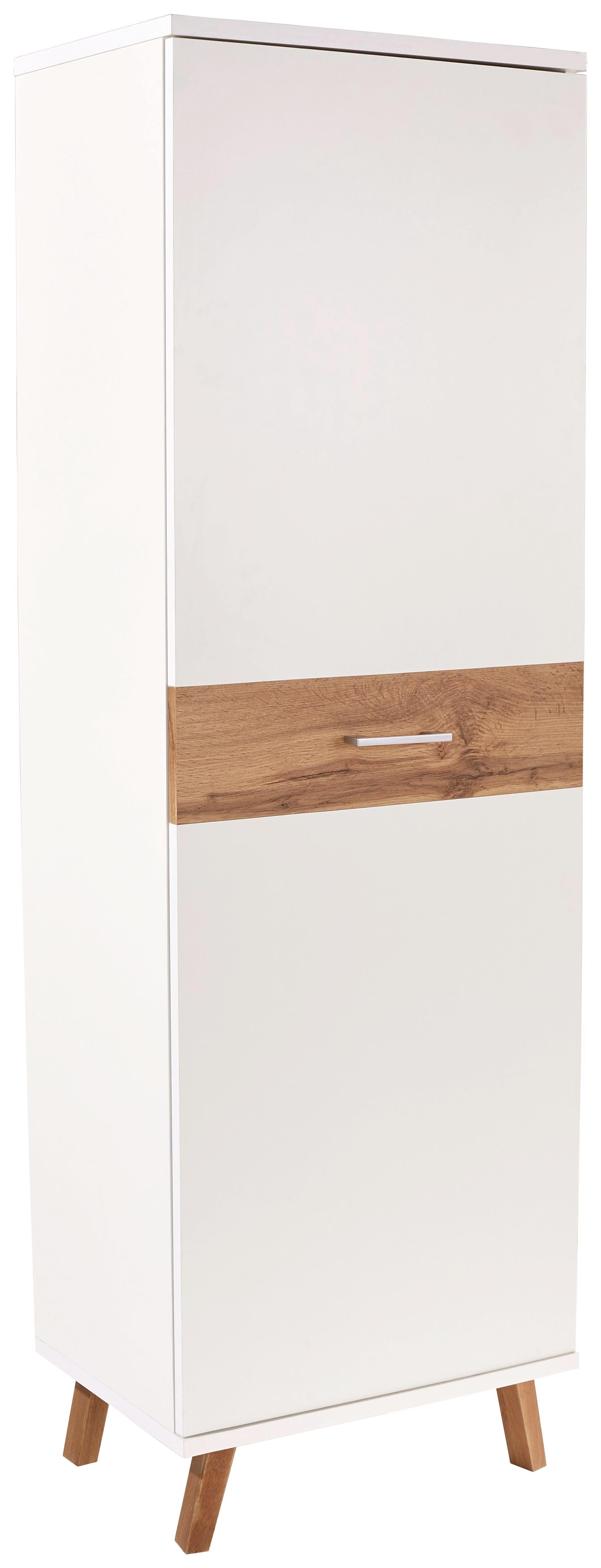 Garderobenschrank Rivoli - Eichefarben/Weiß, MODERN, Holzwerkstoff (60/180/35,5cm)