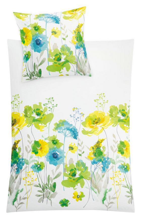 Makosatin Bettwäsche Nassau, Farn - Grün, MODERN, Textil - Kleine Wolke
