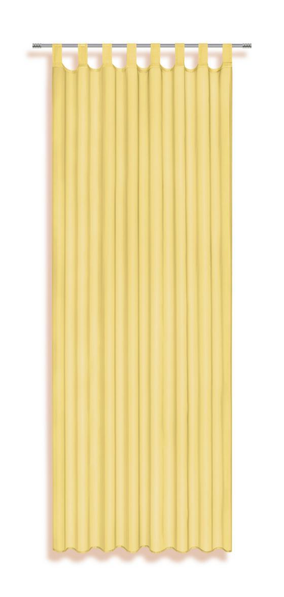 Schlaufenvorhang Utila - Gelb, KONVENTIONELL, Textil (140/245cm) - Ombra