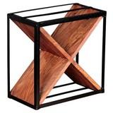 Weinregal Akola B: 37cm Schwarz/Sheesham - Sheeshamfarben, LIFESTYLE, Holz/Metall (37/37/20cm) - Livetastic