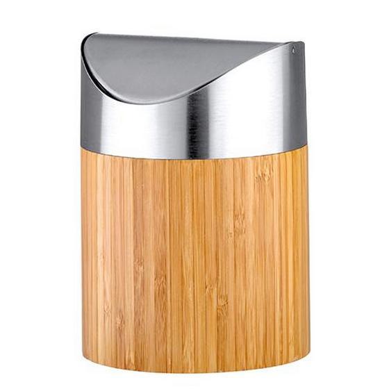 Koš Na Kosmetické Potřeby Bonja - kov/dřevo (12/16,5cm)