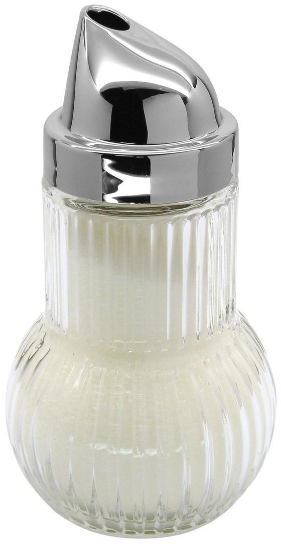 Cukortartó Fackelmann - tiszta/ezüst színű, konvencionális, üveg/fém (13cm)
