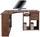 Eckschreibtisch Gemo Fu Pc 56 - Eichefarben/Dunkelbraun, MODERN, Holzwerkstoff (135/74,2/95cm)