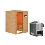 Bio-Sauna Tolouse mit externer Steuerung - Naturfarben, MODERN, Holz (145/187/145cm) - Karibu