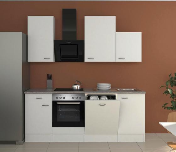 Küchenblock wito 220 cm weiß edelstahlfarben weiß modern holzwerkstoff 220