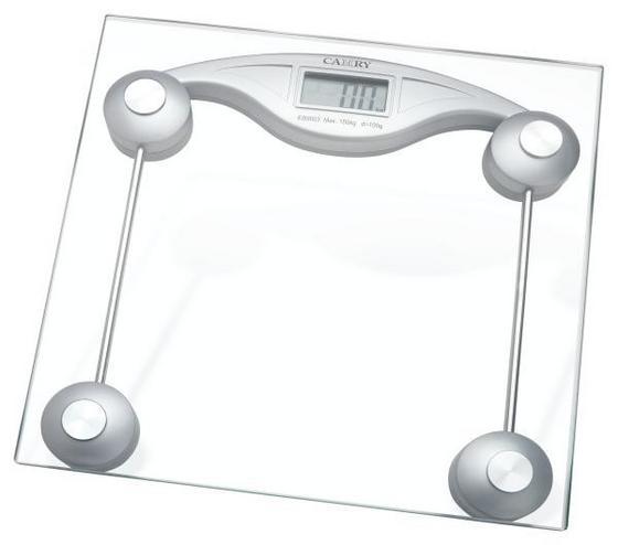 Personenwaage Allesandro - Silberfarben, KONVENTIONELL, Glas/Kunststoff (30/4/30cm) - Luca Bessoni