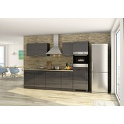 Küchenblock Mailand B: 290 cm Anthrazit - Eichefarben/Anthrazit, Basics, Holzwerkstoff (290/200/60cm) - MID.YOU