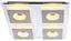 LED-Deckenleuchte Anne - MODERN, Kunststoff/Metall (33/33/5cm)