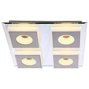 LED-Deckenleuchte Anne - Nickelfarben, MODERN, Kunststoff/Metall (33/33/5cm)