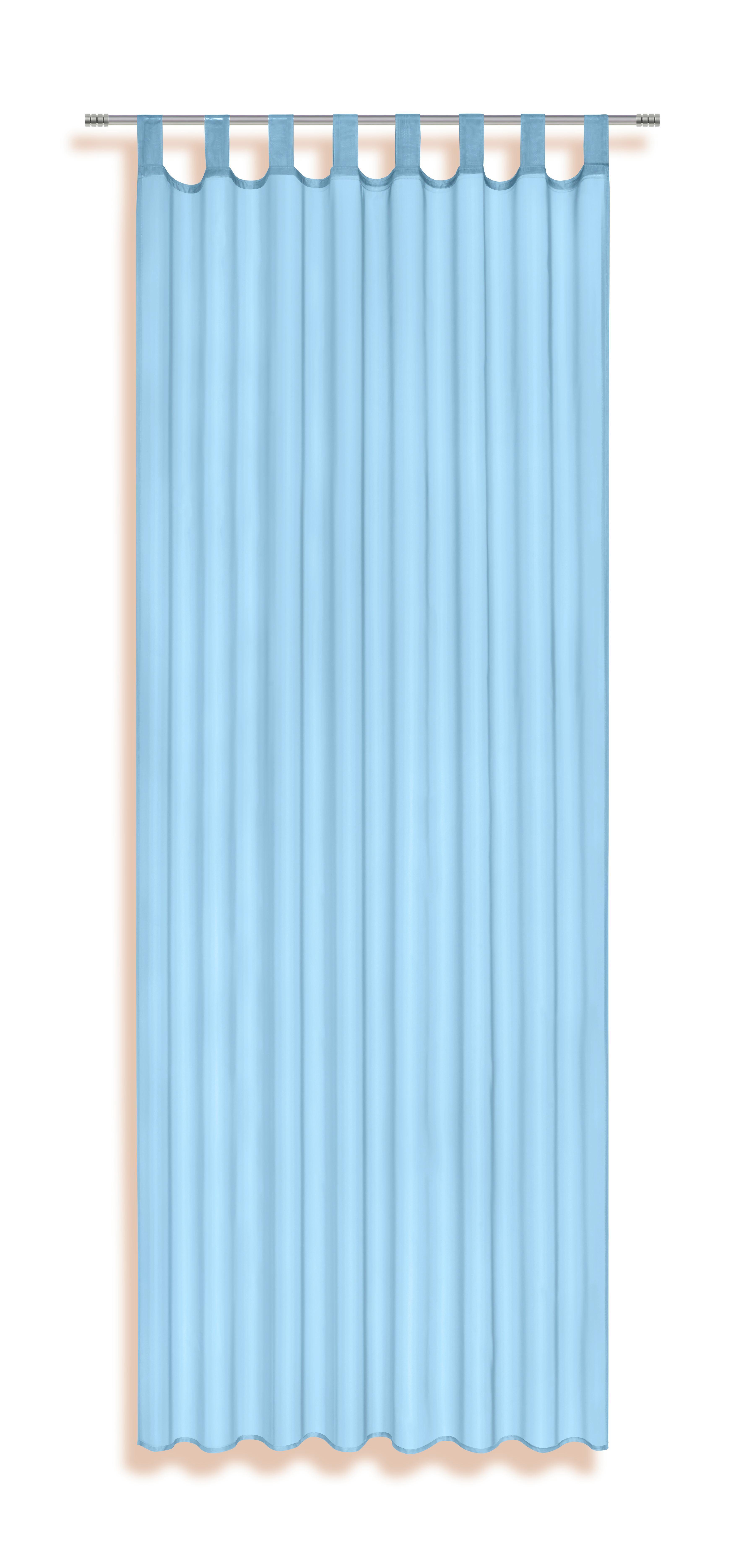 Schlaufenvorhang türkis