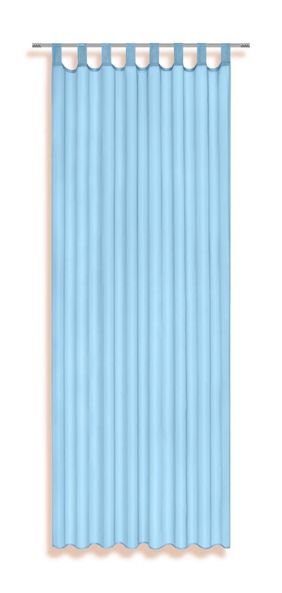 Schlaufenvorhang Utila - Türkis, KONVENTIONELL, Textil (140/245cm) - Ombra