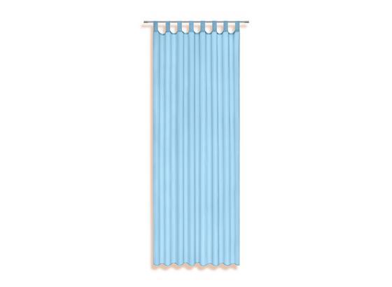 Vorhang mit Schlaufen und Band Utila B: 140 cm, Aqua - Türkis, KONVENTIONELL, Textil (140/245cm) - Ombra
