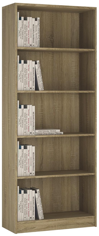 Regál 4-you Yur03 - Sonoma dub, Moderní, dřevo (74/189,5/35,2cm)