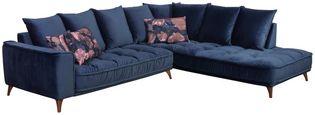 Sedací Souprava Belavio - tmavě modrá, Moderní, textilie (288/210cm)