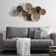 Dekorace Nástěnná Luna - barvy stříbra/barvy zlata, kov (109/57/8cm) - Mömax modern living