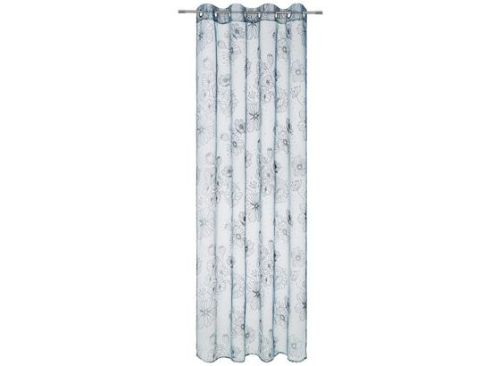 Závěs S Kroužky Greta - bílá/bordeaux, Romantický / Rustikální, textil (135/245cm) - Mömax modern living